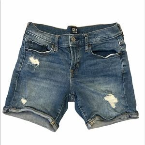 "Gap ""school rules"" jean shorts"